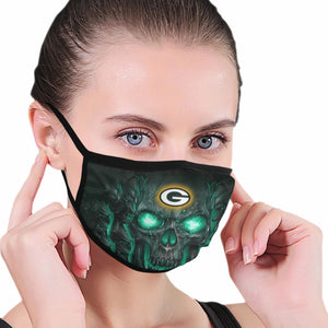 QIANOU66 Skull Lava Packers Anti-infective Polyester Face Mask-Heroinhere