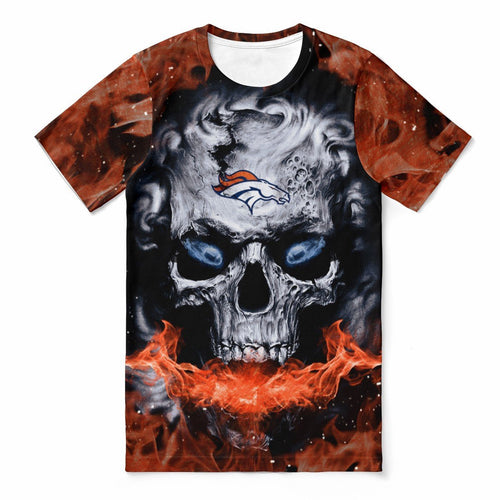 Broncos 3D Skull T-shirts For Women-Heroinhere