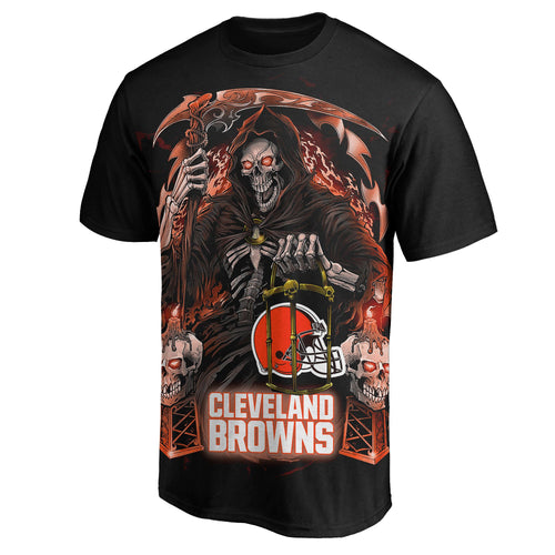 Browns 3D Grim Reaper T-Shirts-Heroinhere
