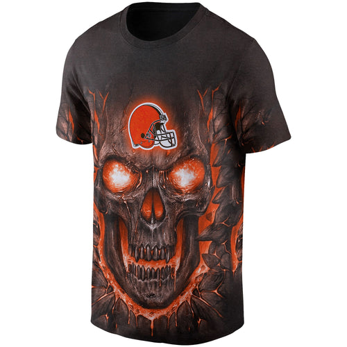 Browns Skull Lava T Shirts-Heroinhere