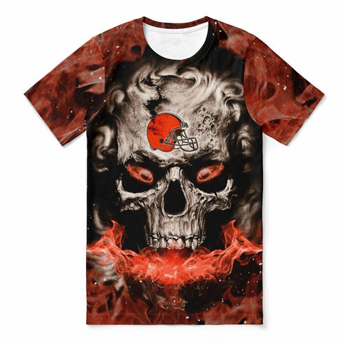 Browns 3D Skull T-shirts For Women-Heroinhere
