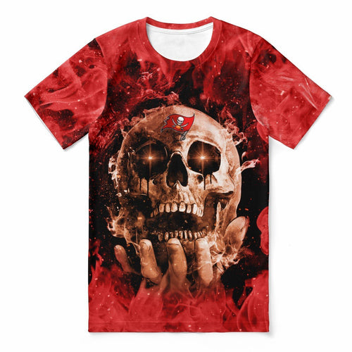 Buccaneers With Fire Skull T-shirts For Women-Heroinhere