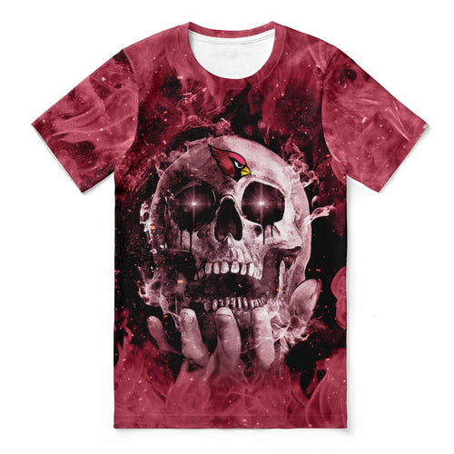 Cardinals With Fire Skull T-shirts For Women-Heroinhere