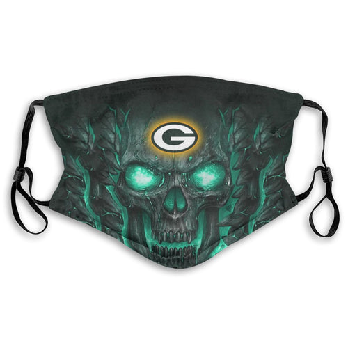 Packers 3D Skull Lava Anti-infective Polyester Face Mask With Filter-Heroinhere