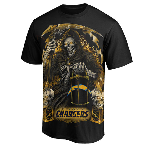 Chargers 3D Grim Reaper T-Shirts-Heroinhere