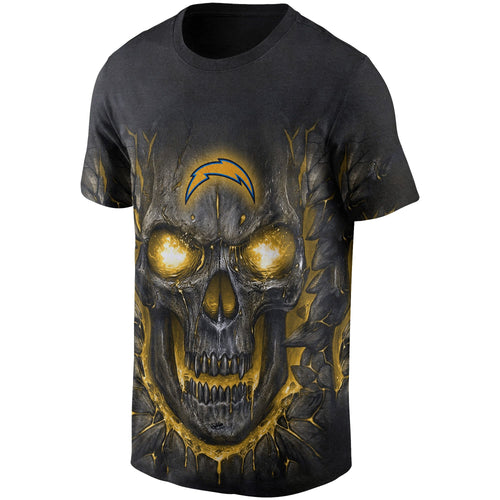 Chargers Skull Lava T Shirts-Heroinhere