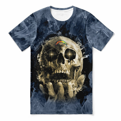 Chargers With Fire Skull T-shirts For Women-Heroinhere