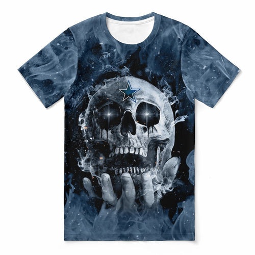 Cowboys With Fire Skull T-shirts For Women-Heroinhere