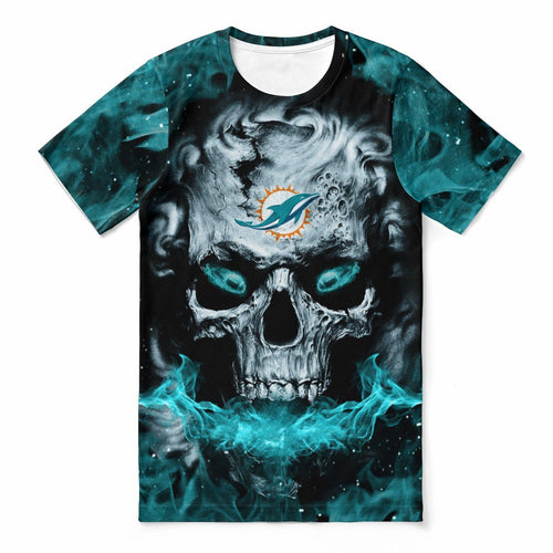 Dolphins 3D Skull T-shirts For Women-Heroinhere