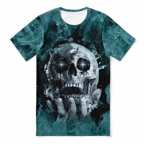 Eagles With Fire Skull T-shirts For Women-Heroinhere