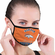 Load image into Gallery viewer, Broncos Football Team Anti-infective Polyester Face Mask-Heroinhere