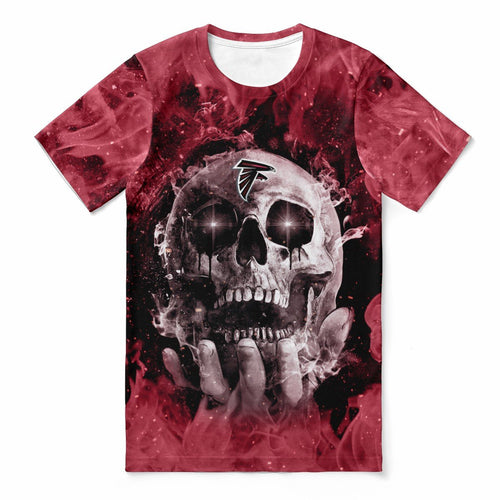 Falcons With Fire Skull T-shirts For Women-Heroinhere