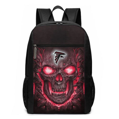 Falcons 3D Skull Lava Travel Laptop Backpack 17 IN-Heroinhere