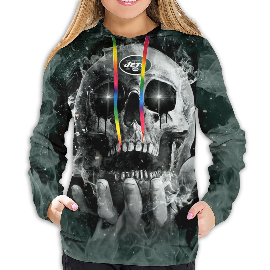 QIANOU66 3D Skull Jets Hoodies For Women Pullover Sweatshirt-Heroinhere