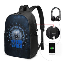 Load image into Gallery viewer, 3D Skull American Football Team Colts Travel Laptop Backpack USB Backpack 17 IN-Heroinhere