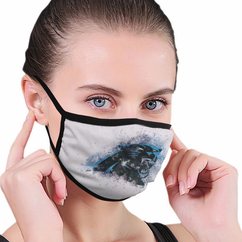 Panthers Logo Anti-infective Polyester Face Mask-Heroinhere