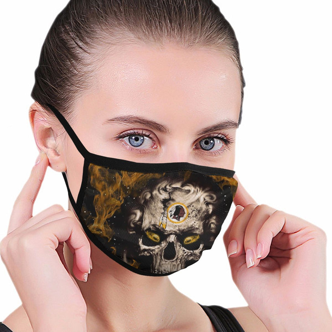 QIANOU66 3D Skull Redskins Anti-infective Polyester Face Mask-Heroinhere