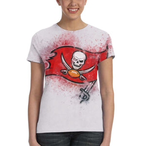 Buccaneers Logo T Shirts For Women-Heroinhere
