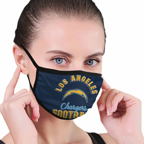 Chargers Football Team Anti-infective Polyester Face Mask-Heroinhere