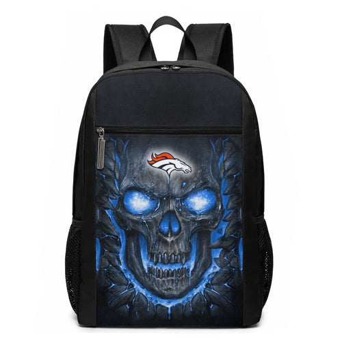Broncos Skull Lava Travel Laptop Backpack 17 IN-Heroinhere