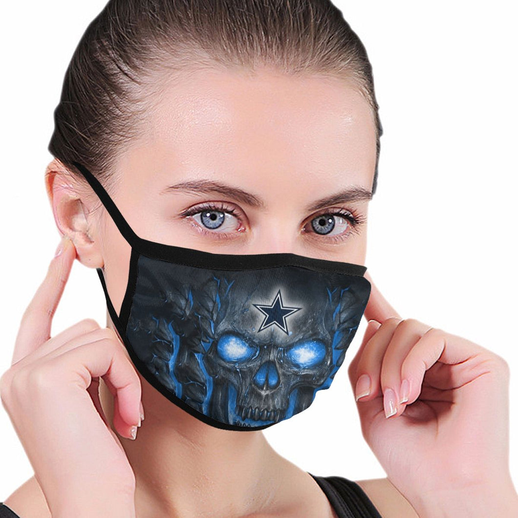 QIANOU66 Skull Lava Cowboys Anti-infective Polyester Face Mask-Heroinhere