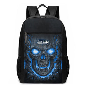 Seahawks Skull Lava Travel Laptop Backpack 17 IN-Heroinhere