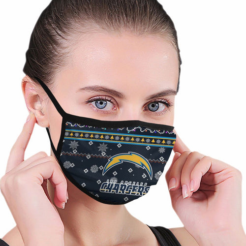 Chargers Team Christmas Ugly Anti-infective Polyester Face Mask-Heroinhere