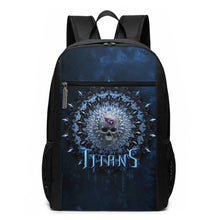 Load image into Gallery viewer, 3D Skull American Football Team Titans Travel Laptop Backpack 17 IN-Heroinhere