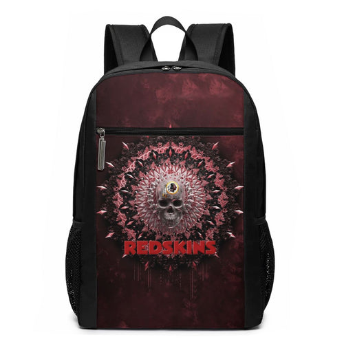 3D Skull American Football Team Redskins Travel Laptop Backpack 17 IN-Heroinhere