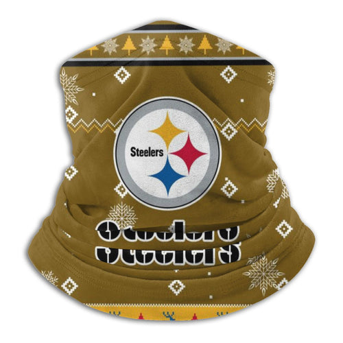 Steelers Team Christmas Ugly Seamless Face Mask Bandanas-Heroinhere