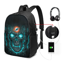Load image into Gallery viewer, Dolphins 3D Skull Lava Travel Laptop Backpack USB Backpack 17 IN-Heroinhere