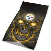 Load image into Gallery viewer, QIANOU66 Skull Lava Steelers Multi-Functional Seamiess Rave Mask Bandana-Heroinhere