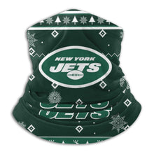Load image into Gallery viewer, Jets Team Christmas Ugly Seamless Face Mask Bandanas-Heroinhere