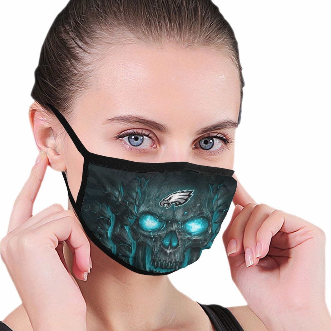 QIANOU66 Skull Lava Eagles Anti-infective Polyester Face Mask-Heroinhere