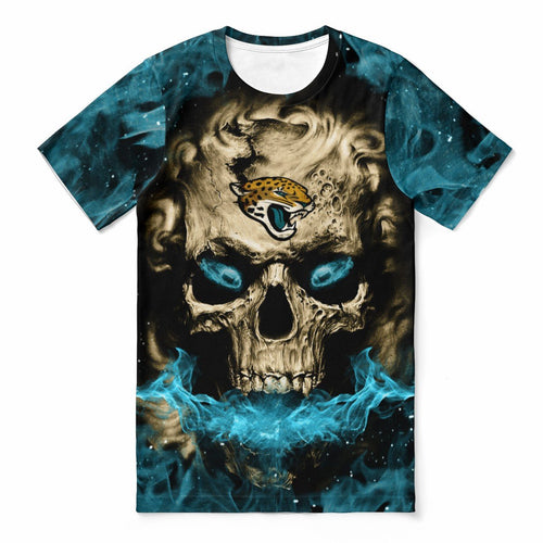 Jaguars 3D Skull T-shirts For Women-Heroinhere
