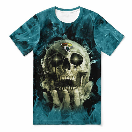 Jaguars With Fire Skull T-shirts For Women-Heroinhere