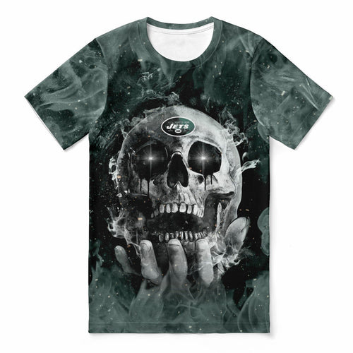 Jets With Fire Skull T-shirts For Women-Heroinhere