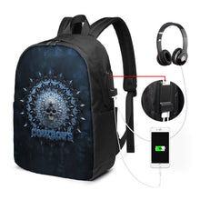 Load image into Gallery viewer, 3D Skull American Football Team Cowboys Travel Laptop Backpack USB Backpack 17 IN-Heroinhere