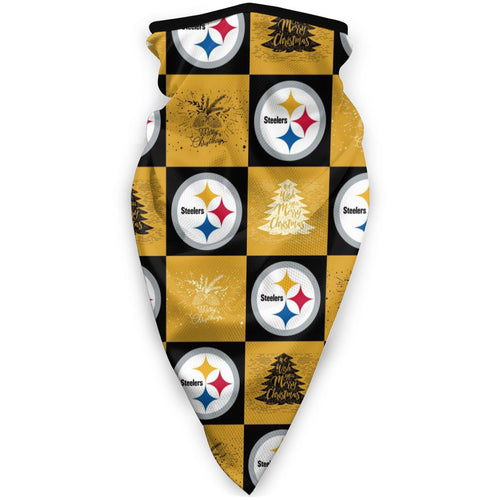 Steelers Team Ugly Christmas Obacle Seamless Bandana Rave Face Mask-Heroinhere