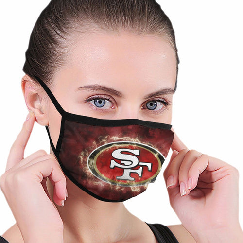49ers Illustration Art Anti-infective Polyester Face Mask-Heroinhere