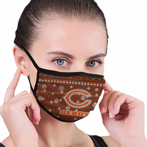 Bears Team Christmas Ugly Anti-infective Polyester Face Mask-Heroinhere