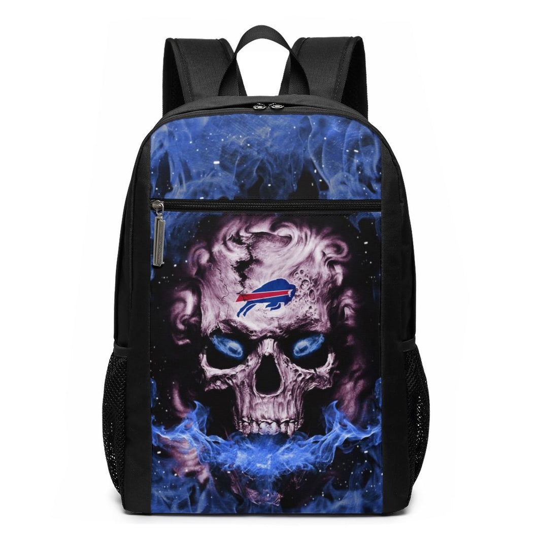 3D Skull Bills Travel Laptop Backpack 17 IN-Heroinhere