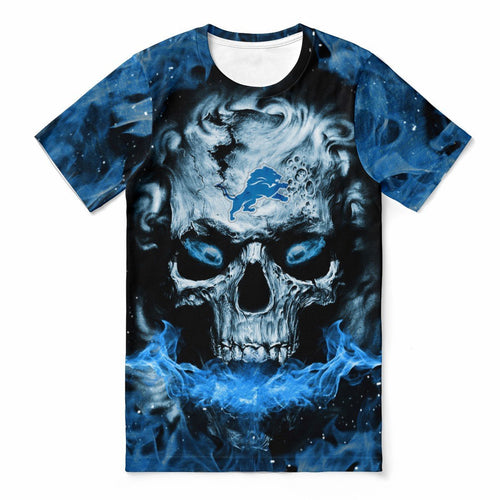 Lions 3D Skull T-shirts For Women-Heroinhere