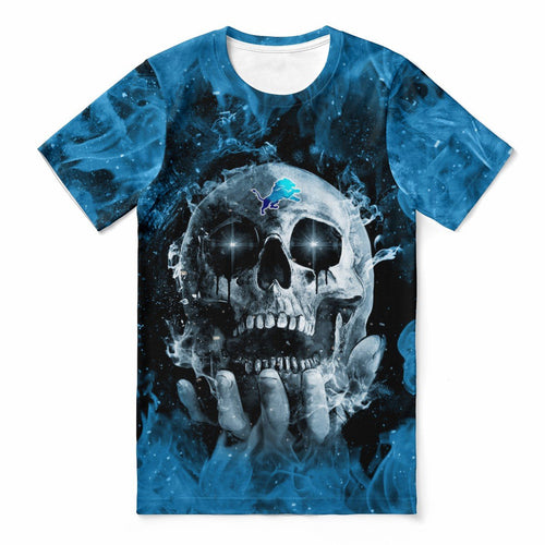 Lions With Fire Skull T-shirts For Women-Heroinhere