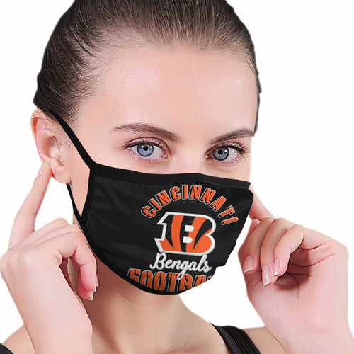 Bengals Football Team Anti-infective Polyester Face Mask-Heroinhere