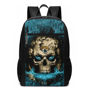3D Skull Jaguars Travel Laptop Backpack 17 IN-Heroinhere