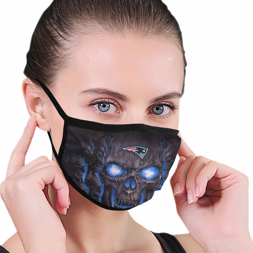 QIANOU66 Skull Lava Patriots Anti-infective Polyester Face Mask-Heroinhere