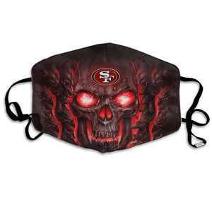 QIANOU66 Skull Lava 49ers Anti-infective Polyester Face Mask-Heroinhere