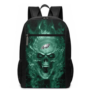 3D Skull Eagles Travel Laptop Backpack 17 IN-Heroinhere