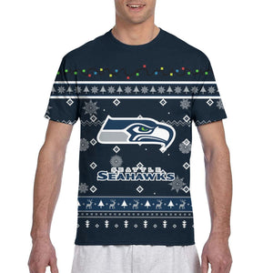 Seahawks Team Christmas Ugly T Shirts For Men-Heroinhere